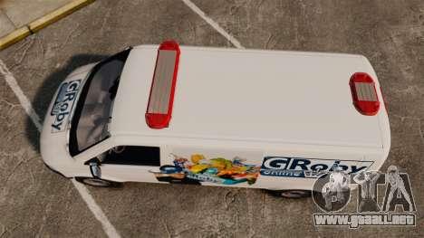Volkswagen Transporter T5 Groby Netshop [ELS] para GTA 4 visión correcta