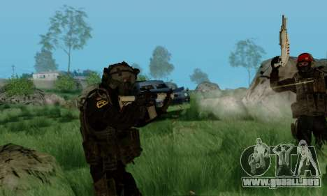 Kopassus Skin 3 para GTA San Andreas sexta pantalla