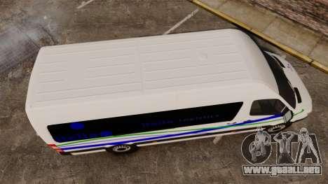 Mercedes-Benz Sprinter Itella Logistics para GTA 4 visión correcta