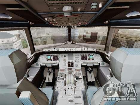 Airbus A320-211 China Eastern para la vista superior GTA San Andreas