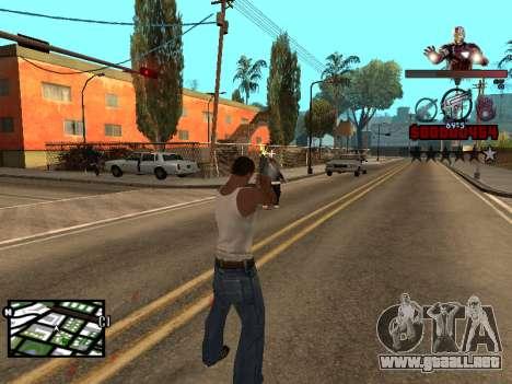 C-HUD hombre de Hierro para GTA San Andreas sucesivamente de pantalla