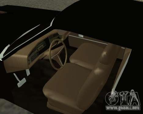 Buick Riviera 1972  Classic para GTA San Andreas vista posterior izquierda