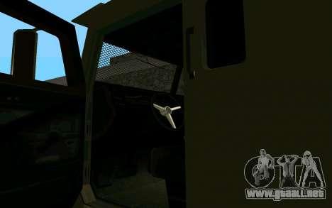 GTA V Police Riot para GTA San Andreas vista posterior izquierda