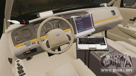 Ford Crown Victoria LCPD [ELS] para GTA 4 vista hacia atrás