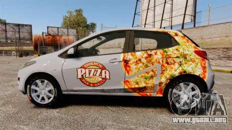 Mazda 2 Pizza Delivery 2011 para GTA 4 left