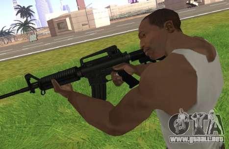 M4A1 para GTA San Andreas sucesivamente de pantalla