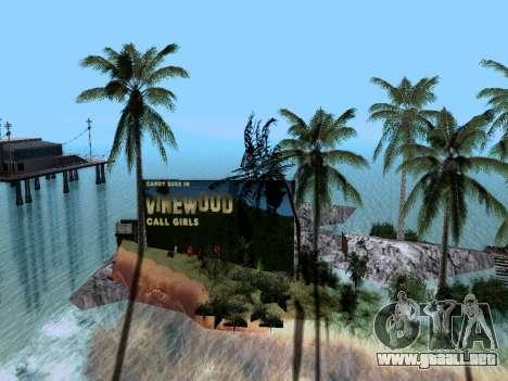 Nueva isla v1.0 para GTA San Andreas sucesivamente de pantalla