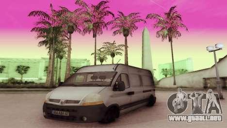 Renault Master para GTA San Andreas left