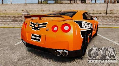 Nissan GT-R 2012 Black Edition NFS Underground para GTA 4 Vista posterior izquierda