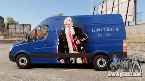 Mercedes-Benz Sprinter 2011 WWE Ultimate Warrior para GTA 4 left