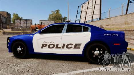 Dodge Charger 2013 LCPD [ELS] para GTA 4 left