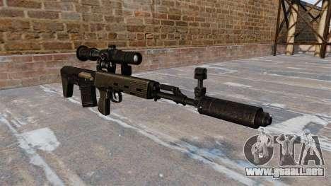 Rifle de francotirador SVD acortado para GTA 4