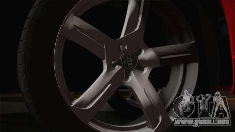 Audi Q5 2012 para GTA San Andreas vista posterior izquierda