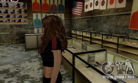 Carlita para GTA San Andreas segunda pantalla