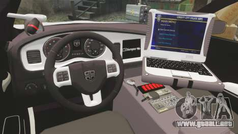 Dodge Charger 2013 LCPD [ELS] para GTA 4 vista hacia atrás