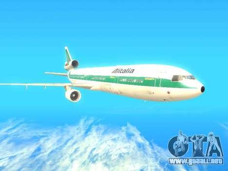McDonnell Douglas MD-11 Alitalia para GTA San Andreas vista posterior izquierda