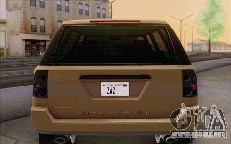 Gallivanter Baller из GTA V para el motor de GTA San Andreas