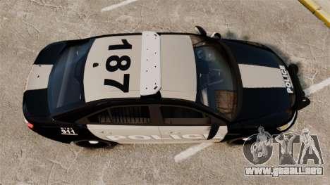 Ford Taurus LCPD Interceptor 2011 [ELS] para GTA 4 visión correcta