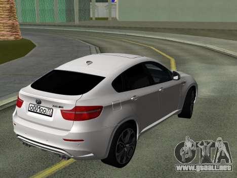 BMW X6M 2010 para visión interna GTA San Andreas