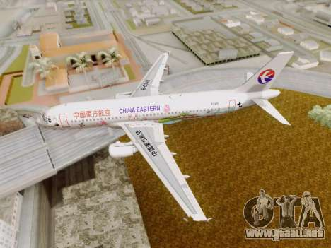 Airbus A320-211 China Eastern para vista lateral GTA San Andreas
