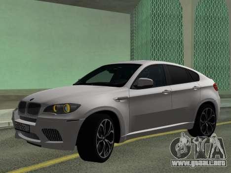 BMW X6M 2010 para GTA San Andreas left