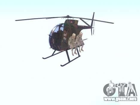 OH-6 Cayuse para GTA San Andreas left