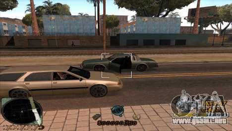 C-HUD Army Gang para GTA San Andreas sucesivamente de pantalla