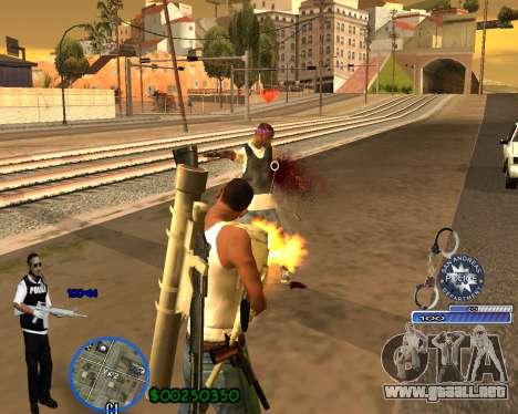 C-HUD For Police Departament para GTA San Andreas quinta pantalla