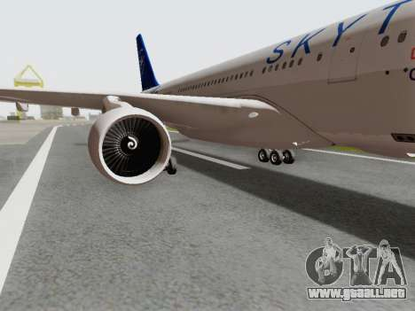 A330-202 China Eastern para GTA San Andreas vista hacia atrás