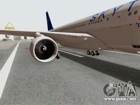 A330-202 China Eastern para GTA San Andreas vista hacia atrás