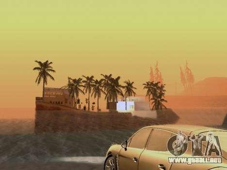 Nueva isla v1.0 para GTA San Andreas novena de pantalla