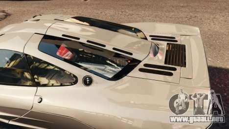 McLaren F1 XP5 para GTA 4 vista interior