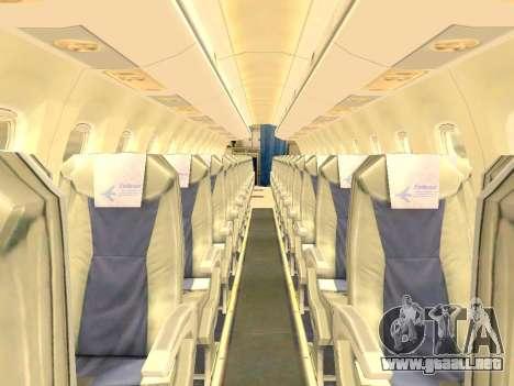 Embraer 175 HOUSE para GTA San Andreas interior