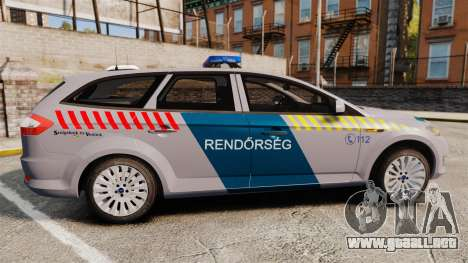 Ford Mondeo Hungarian Police [ELS] para GTA 4 left