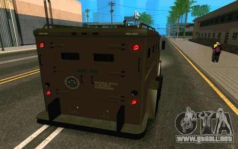 GTA V Police Riot para GTA San Andreas left