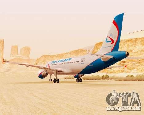 Airbus A320-200 De Ural Airlines para visión interna GTA San Andreas