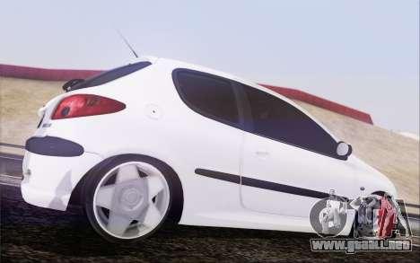 Peugeot 206 Mehmet ALAN para GTA San Andreas left