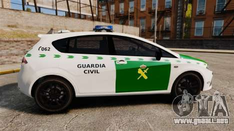 Seat Cupra Guardia Civil [ELS] para GTA 4 left