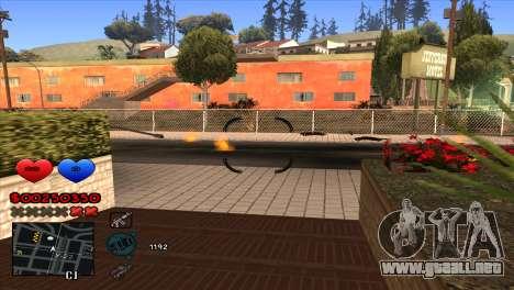C-HUD para GTA San Andreas quinta pantalla