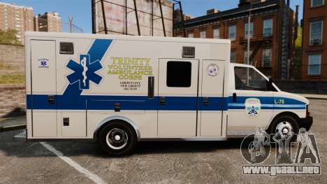 Brute Speedo TEMS Ambulance [ELS] para GTA 4 left
