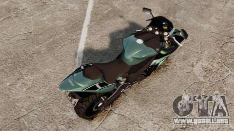 Yamaha R1 RN12 [Update] para GTA 4 Vista posterior izquierda