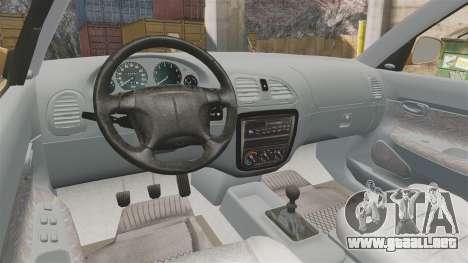 Daewoo Nubira I Wagon CDX PL 1998 para GTA 4 vista hacia atrás