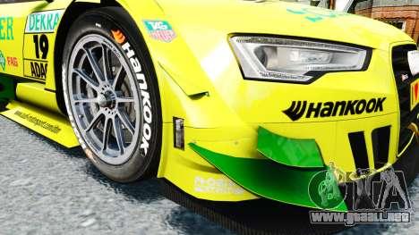 Audi RS5 DTM para GTA 4 vista interior