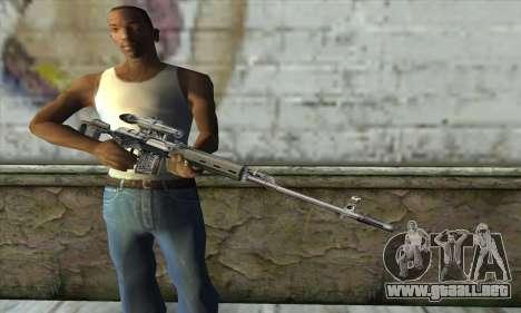 Rifle de francotirador de un Acosador para GTA San Andreas tercera pantalla
