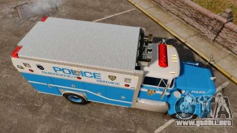 Mack R Bronx 1993 NYPD Emergency Service para GTA 4 visión correcta