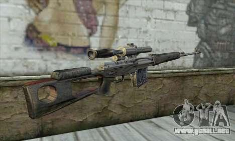 Rifle de francotirador de un Acosador para GTA San Andreas segunda pantalla