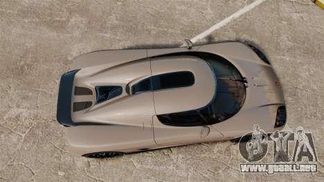Koenigsegg CCX para GTA 4 visión correcta