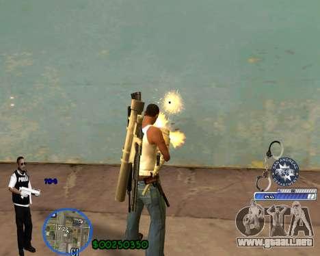 C-HUD For Police Departament para GTA San Andreas segunda pantalla