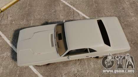 Dodge Challenger 1971 Vanishing Point para GTA 4 visión correcta