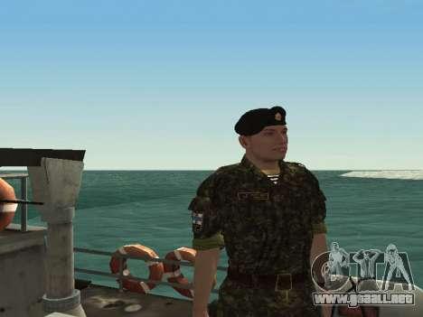 El Cuerpo de infantería de marina de las fuerzas para GTA San Andreas tercera pantalla